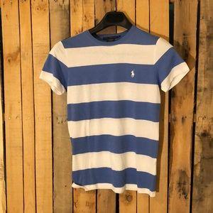 Women's striped shirt sleeve top